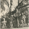 Margaret Sullavan with her children, Bill Hayward, Bridget Hayward, and Brooke Hayward