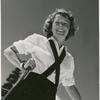 Margaret Sullavan with ski poles