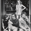 Diane Keaton, Woody Allen, Tony Roberts, and Lee Anne Fahey in the stage production Play It Again, Sam.