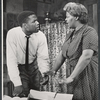 Sidney Poitier and Claudia McNeil in the stage production A Raisin in the Sun