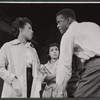 Diana Sands, Ruby Dee, and Sidney Poitier in the stage production A Raisin in the Sun