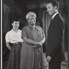 Diana Sands, Claudia McNeil, and Louis Gossett in the stage production A Raisin in the Sun