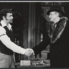 Hector Elizondo and George C. Scott in the stage production Sly Fox
