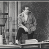 Director Arthur Penn on the set of the stage production Sly Fox