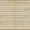 Clean copy of a graph of Sonata, Op. 106, 1st movement, measures 162-325, in the hand of Angi Elias, Item# 13 (verso)