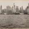 North (Hudson) River - River scenes - Lower Manhattan skyline - [Adams Express Building - Bankers Trust Company - Equitable Trust Company - Singer Manufacturing Company - West Street Building - Woolworth Building - Municipal Building - Hudson Railroad Terminal - Bank of Manhattan - City Bank-Farmers Trust Company - Downtown Athletic Club - Irving Trust Company.]