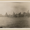 North (Hudson) River - [Lower New York skyline - Bank of Manhattan - Irving Trust Company - New York Telephone Company - Singer Manufacturing Company - Woolworth Building.]
