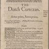 Holograph comment in a copy of John Marston's The Dutch Courtezan (1605)