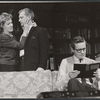 Uta Hagen, George Grizzard, and Arthur Hill in the stage production Who's Afraid of Virginia Woolf?