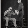 Unidentified actor and Barnard Hughes in the stage production The Advocate