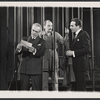 Barnard Hughes, unidentified actor, and James Daly in the stage production The Advocate