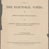 Pamphlets relating to the counting of electoral ballots