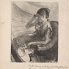Woman seated in a loge