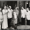 Margaret Ladd, Elizabeth Wilson, John McGiver, Richard Castellano, Will MacKenzie, Martin Gabel and unidentified actors in the stage production Sheep on the Runway