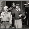 John McGiver, Neil Flanagan, Barnard Hughes and two unidentified actors in the stage production Sheep on the Runway