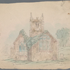 """St. Juliot [church, Cornwall] Before restoration."" 8 original pencil sketches, with the author's ms. captions"