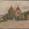 Hardy, Emma Lavinia (Gifford). St. Juliot rectory. Cornwall. Two water color sketches. 51 x 30 cm. By Thomas Hardy's first wife