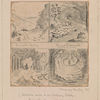 Sketches made in the Vallency valley: Four miniature original pencil sketches on same sheet