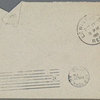 Envelope of letter from Wallace to A. W. Anthony