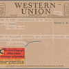 [Telegram from J.J. Eiseman to Lloyd F. Dohm]