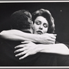Jacqueline Brookes embracing Richard A. Dysart in the stage production Six Characters in Search of an Author