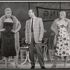 Jack Warden and unidentified actresses in rehearsal for the stage production The Body Beautiful