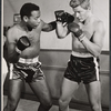Brock Peters and Steve Forrest in rehearsal for the stage production The Body Beautiful