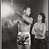 Brock Peters and Barbara McNair in rehearsal for the stage production The Body Beautiful
