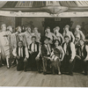 Dance troupe that includes Mae Fortune (far right), Bessie Buchanan (1st row, 3rd from right), Tosh Hammed (1st row, 1st from right) and Leonard Harper (center)