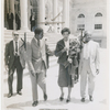 Althea Gibson at New York City Hall after successful tennis tournaments in Europe
