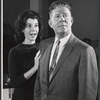 Bonnie Scott and Robert Morse in rehearsal for the stage production How to Succeed in Business