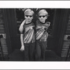 Nine year old Puerto Rican albino twins, Brooklyn, New York