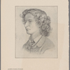 Algernon Charles Swinburne. From the original drawing by Dante Gabriel Rossetti, in possession of George A. Armour, Esq.