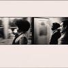 Trains Speed Past. Woman with Afro: Two Men in Profile, Black and Hispanic
