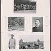 Sheet with five photographic images, including, at middle right, a portrait of William H. Taft.