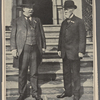 Cincinnati's best-known sons. This photograph of the Republican nominee and his brother, Charles P. Taft, is said to be the first taken of them together within recent years, They are shown standing on the steps of the Taft home in Cincinnati.