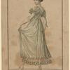 Costume Parisien. Coeffure ondée, à la Titus. Tunique de crêpe sur une robe de taffetas