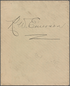 Ralph Waldo Emerson collection of papers