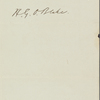 Blake, H[arrison] G[ray] O[tis], ALS to. May 26, [1866].