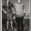 Buddy Hackett and unidentified in rehearsal for the stage production I Had a Ball