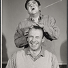 Richard Kiley and Buddy Hackett in rehearsal for the stage production I Had a Ball