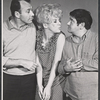 Richard Kiley, Karen Morrow and Buddy Hackett in rehearsal for the stage production I Had a Ball