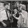 Richard Kiley, Buddy Hackett and Karen Morrow in the stage production I had a Ball