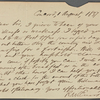 [Alcott, Amos Bronson], ALS to. Aug. 1, 1837.