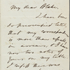 Blake, H[arrison] G[ray] O[tis], AL[S] to. May 14, 1866.