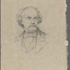Reich, Jacques. Original pencil portrait of Nathaniel Hawthorne. Signed, undated.