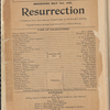 Resurrection, by Henri Bataille and Michael Morton; from Tolstoi's novel