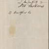 Brailsford, W., ALS to. Jan. 11, 1854.