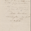Chorley, [Henry Fothergill], ALS to. [Mar. 5, 1860]. With ALS by Sophia Peabody Hawthorne.