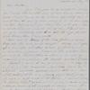 Hawthorne, Elizabeth Manning, ALS to NH. May 3, [1851]